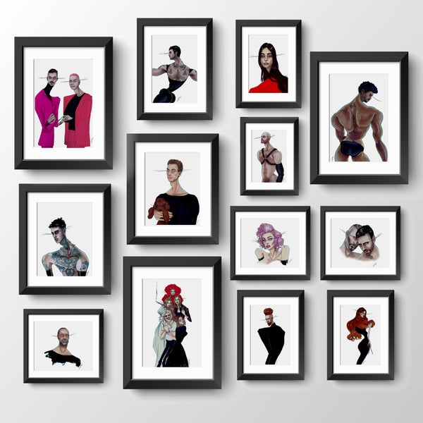 Image of BESPOKE ILLUSTRASHION COMMISSION – Portrait Gallery