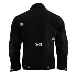 Image of HOMESICK x SSG Black Bullet Hole Jacket