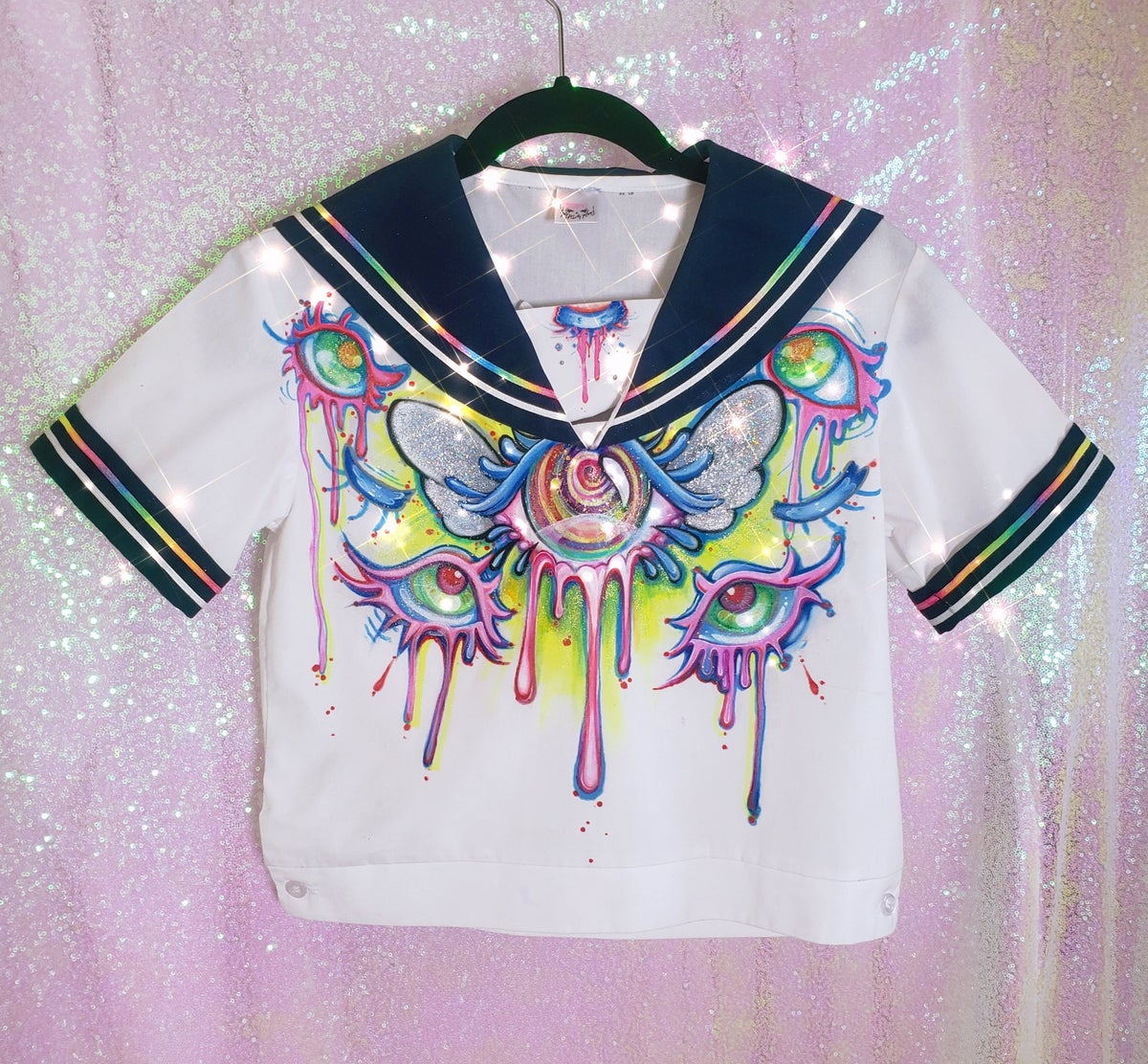 Image of ~Psychedelic Seifuku~ Uniform as Canvas Decorative Painting