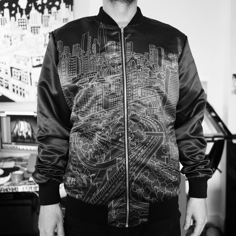 Image of TL040 Bomber satin