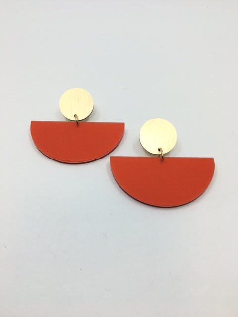 Large 1/2 Circle Earrings by dconstruct