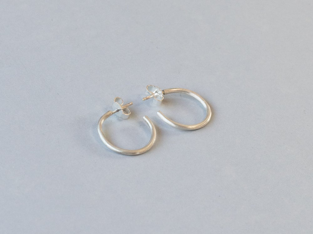 Image of Silver Creole Hoop Earrings
