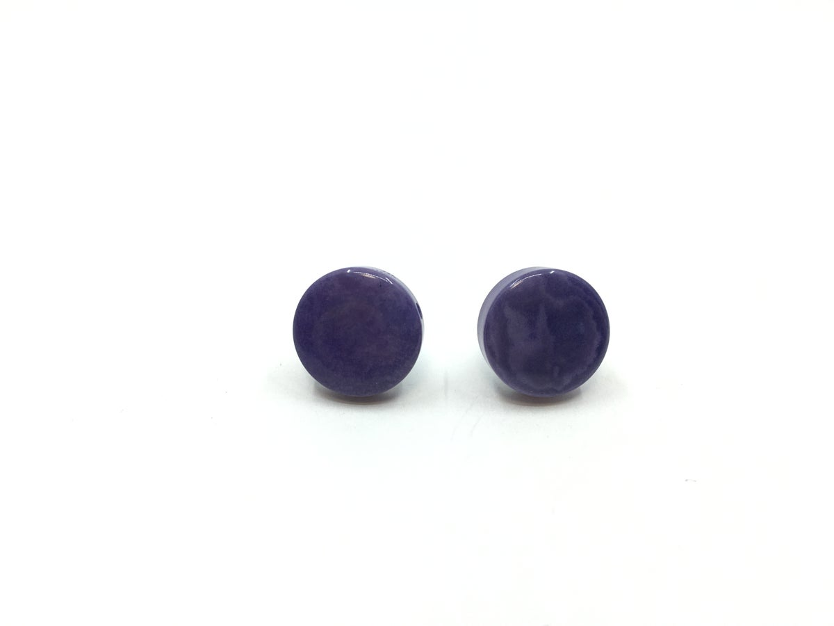 Tagua Small Post Earrings by Veronica Riley Martens