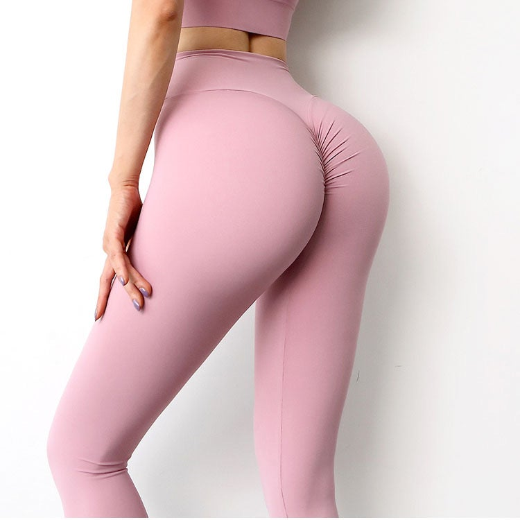 Image of QUEEN SCRUNCH BOOTY LEGGINGS PINK