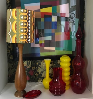 Image of Disc 'O' Ochre Lampshade