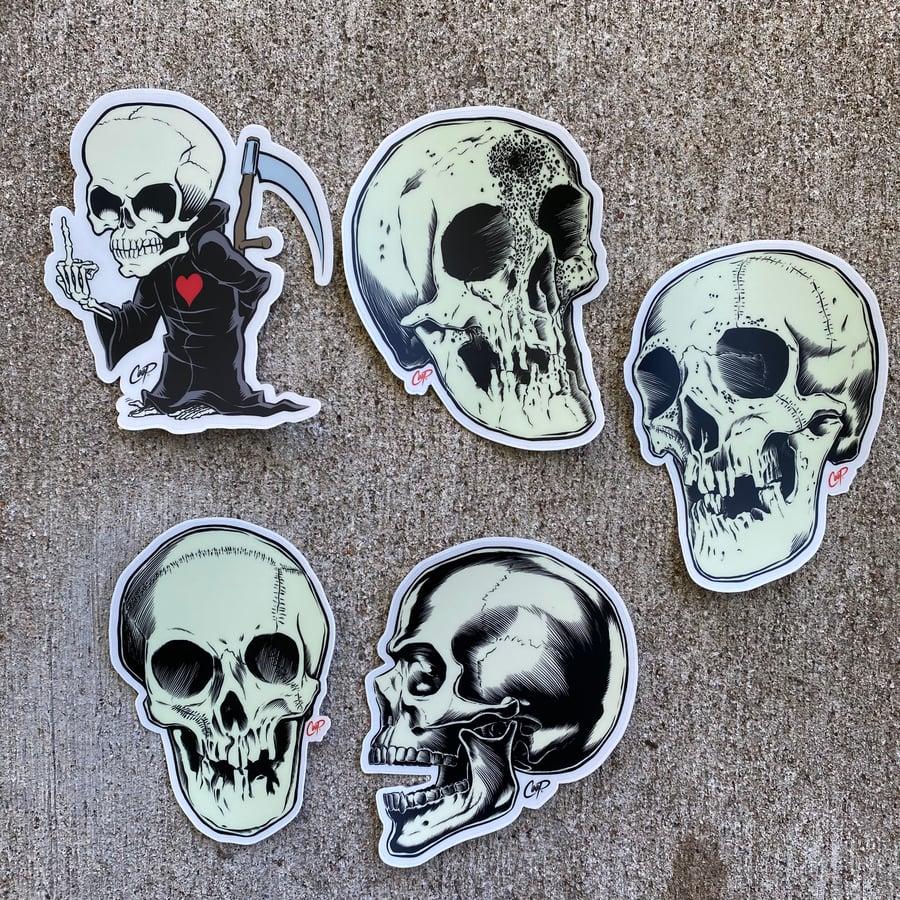 "Image of COOP Sticker Pack #4 ""Skulls"""