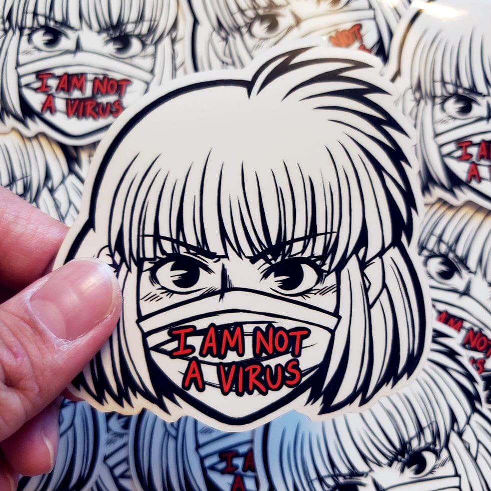 (#StopAAPIHate) I Am Not A Virus Sticker