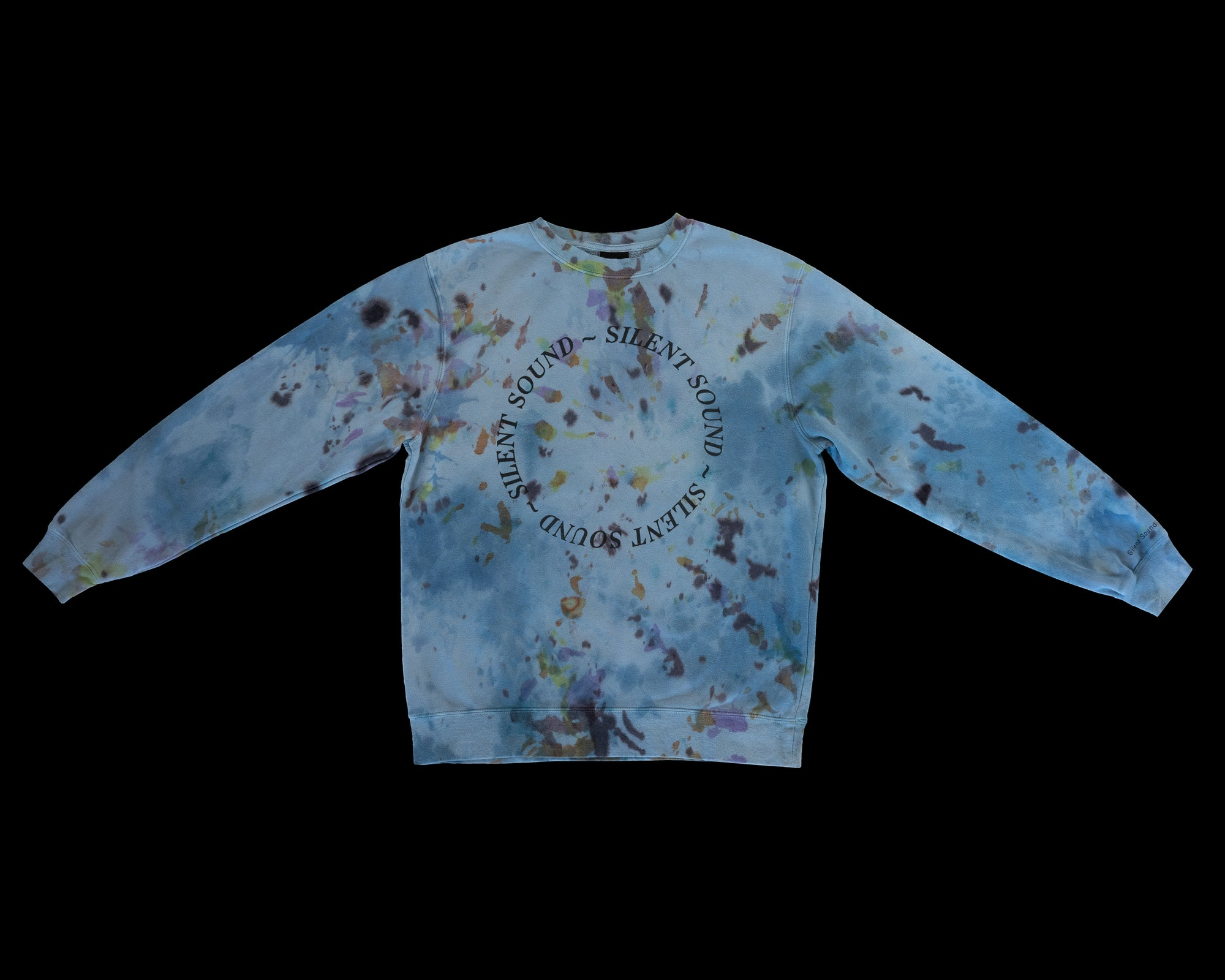 Image of Crewneck Sweatshirt - Hand Dyed (Blue Tone)