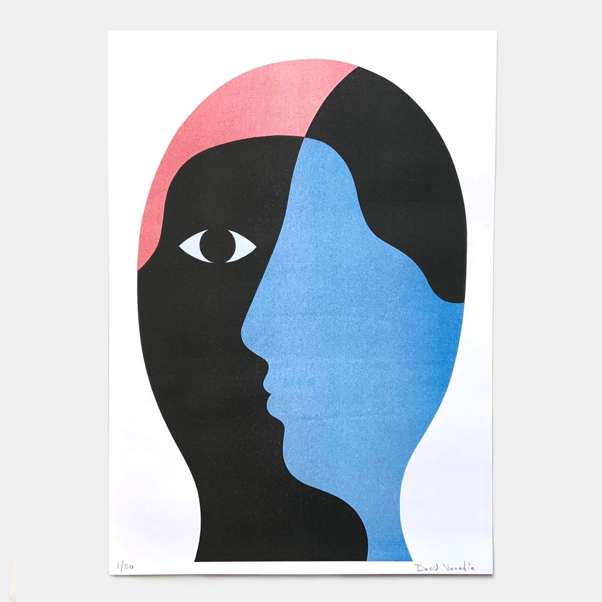 Image of Limited edition riso print 30 x 42 cm 'Pas de Face'