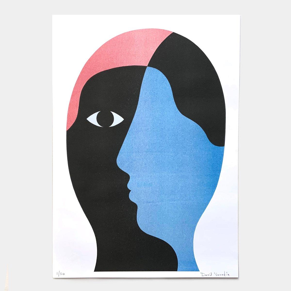 Image of Limited edition riso print 30 x 42 cm 'Pas de Face'
