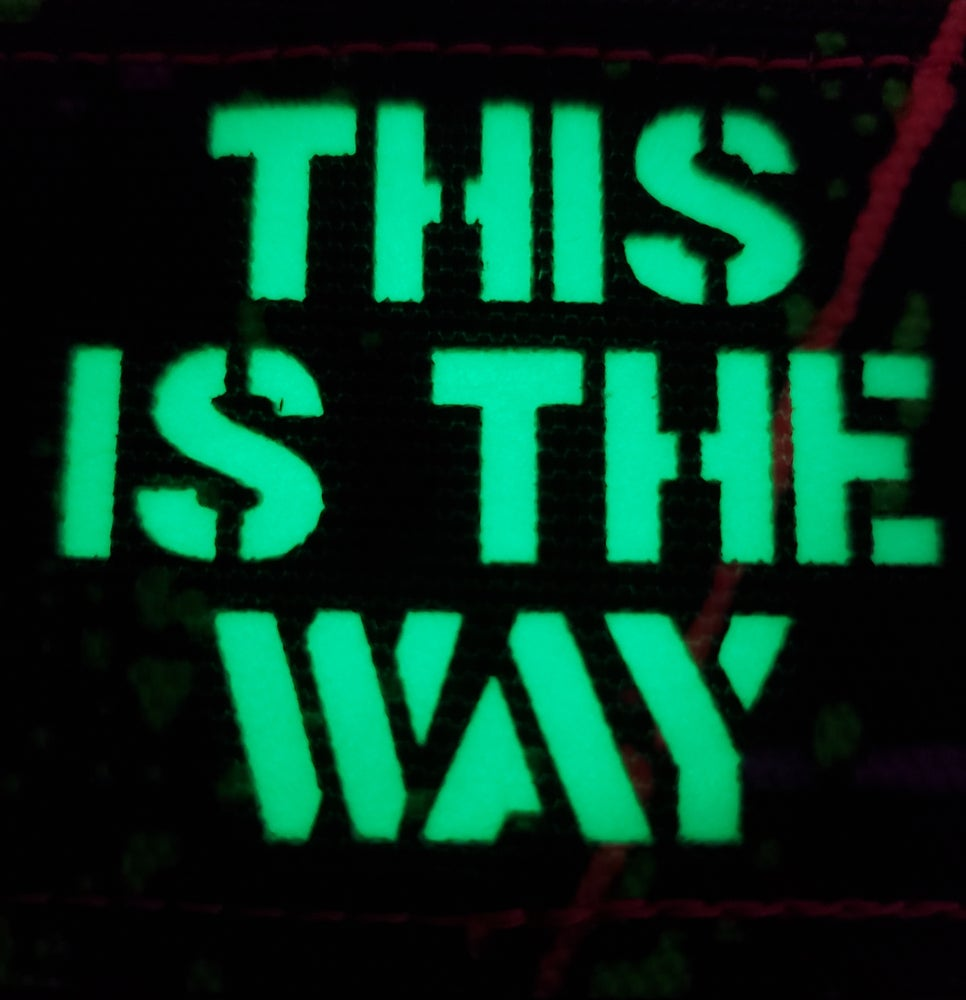"""Image of """"This Is The Way"""" splatter laser cut"""