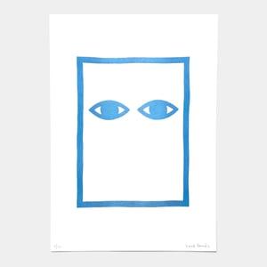 Image of Limited edition riso print 30 x 42 cm 'Bien Encadré'