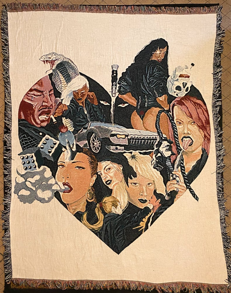 Image of Leather Heathers 69 Woven Blanket PREORDER