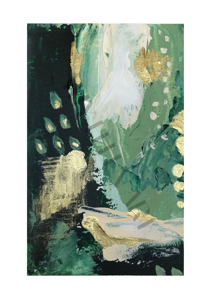 Image of Abstract 7 - 'Green Olive' Print
