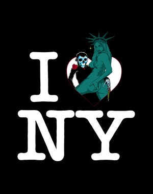 Image of I LOVE NY Woven Blanket PREORDER