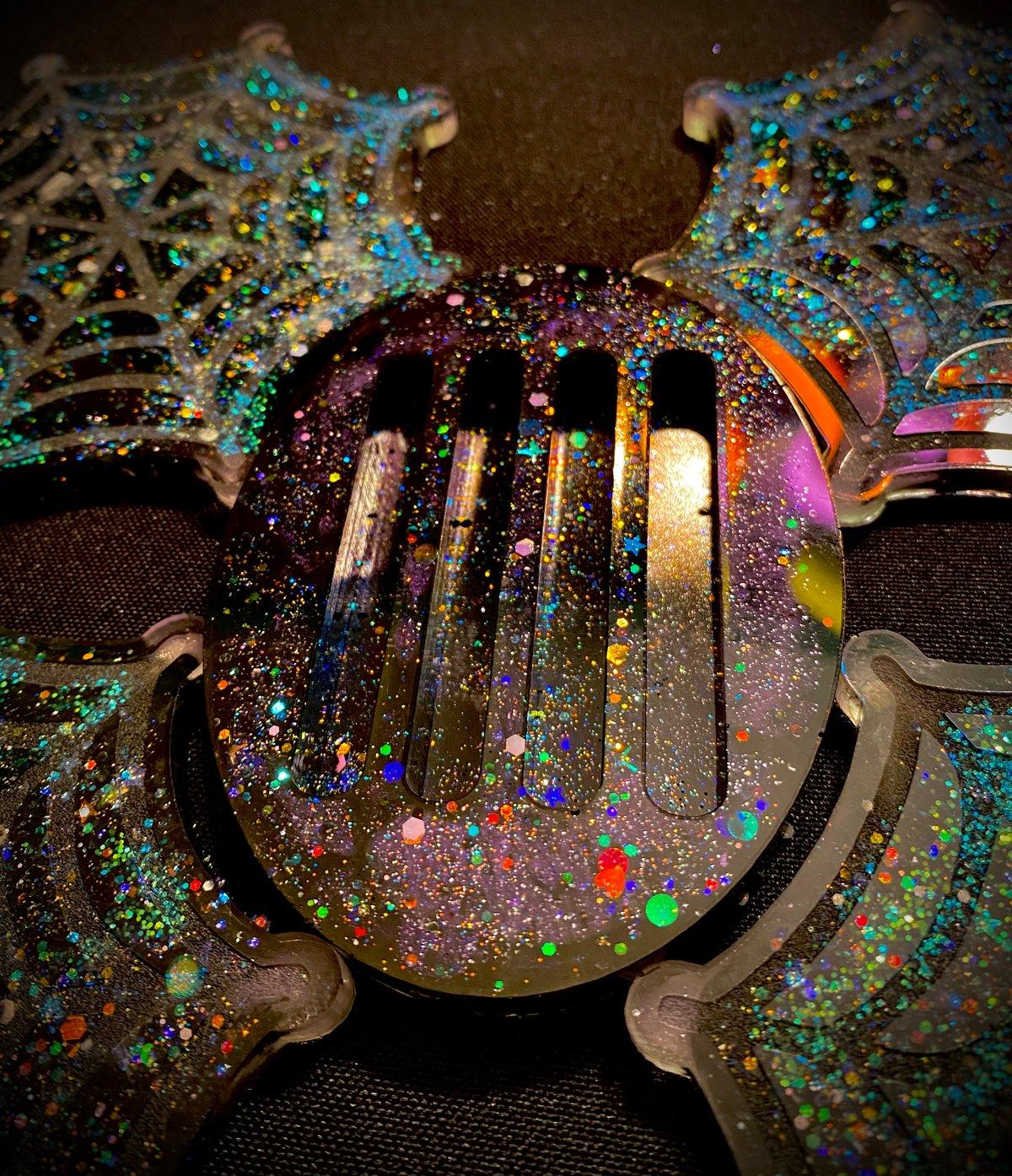 Image of Galaxy Spiderweb Coaster Set
