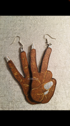 Peace Hand Sign Earrings