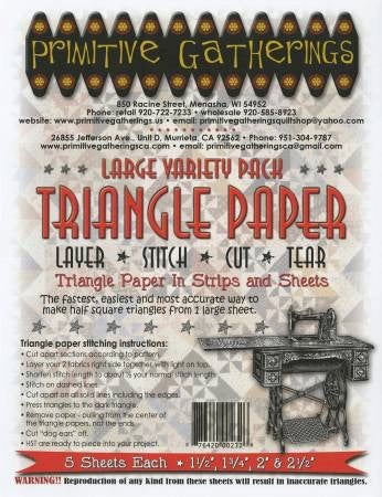 Image of Triangle Paper Large Variety Pack