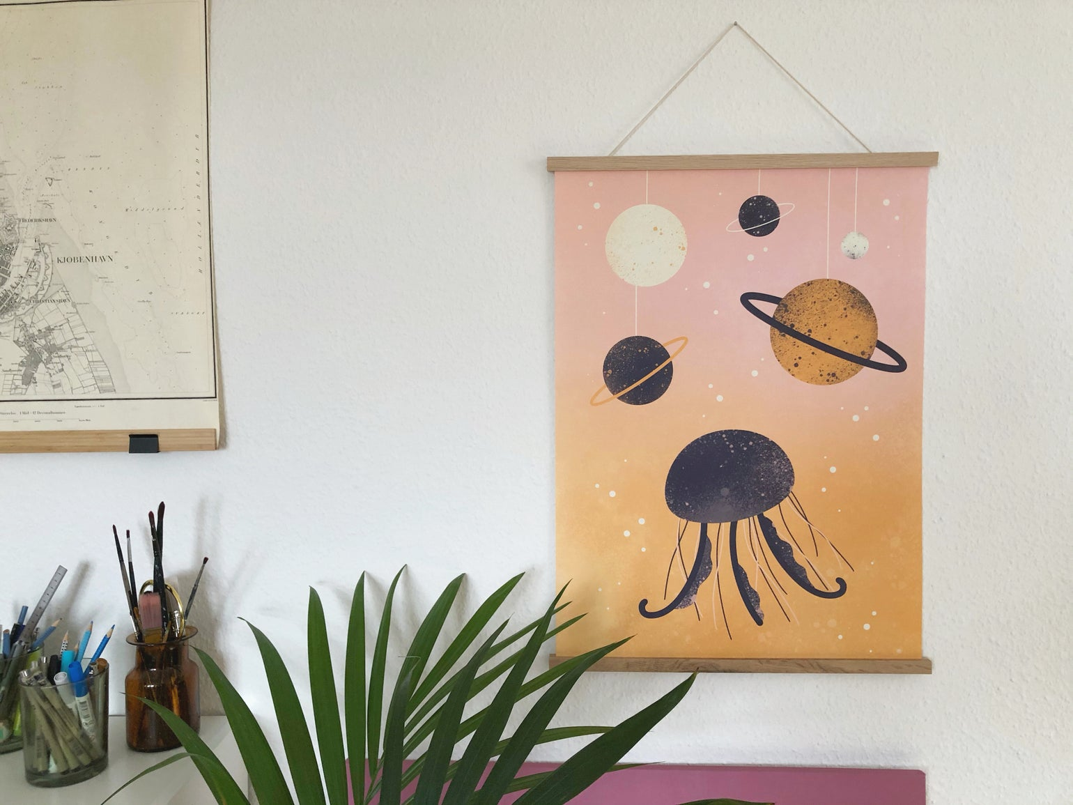 Image of Jellyfish in Space poster