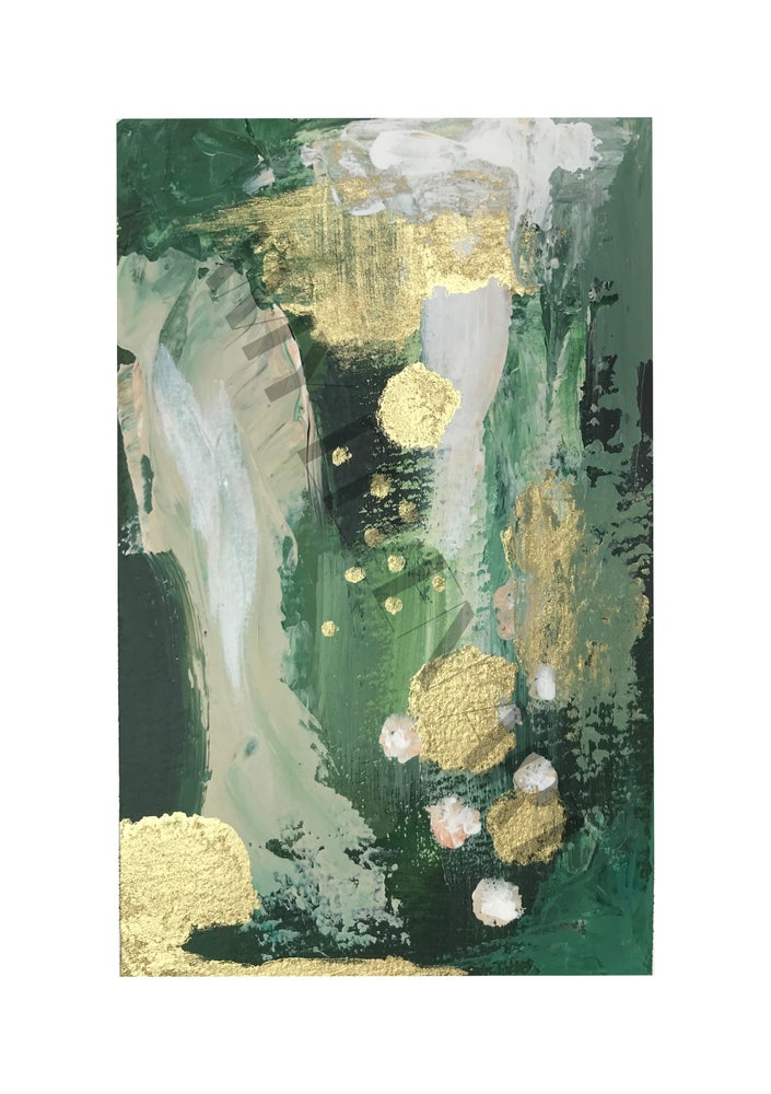 Image of Abstract 8 - 'Green Olive 2' Print