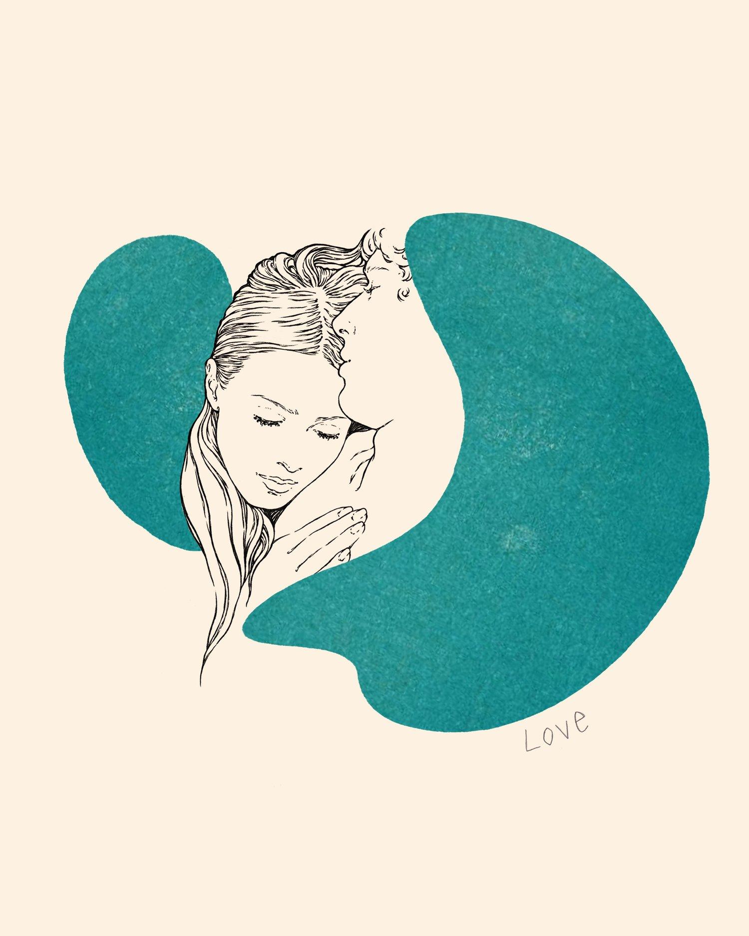 """Image of """" LOVE """" 24x30 cm"""