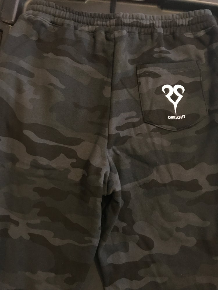 Image of Disney Goth Joggers Black Camo