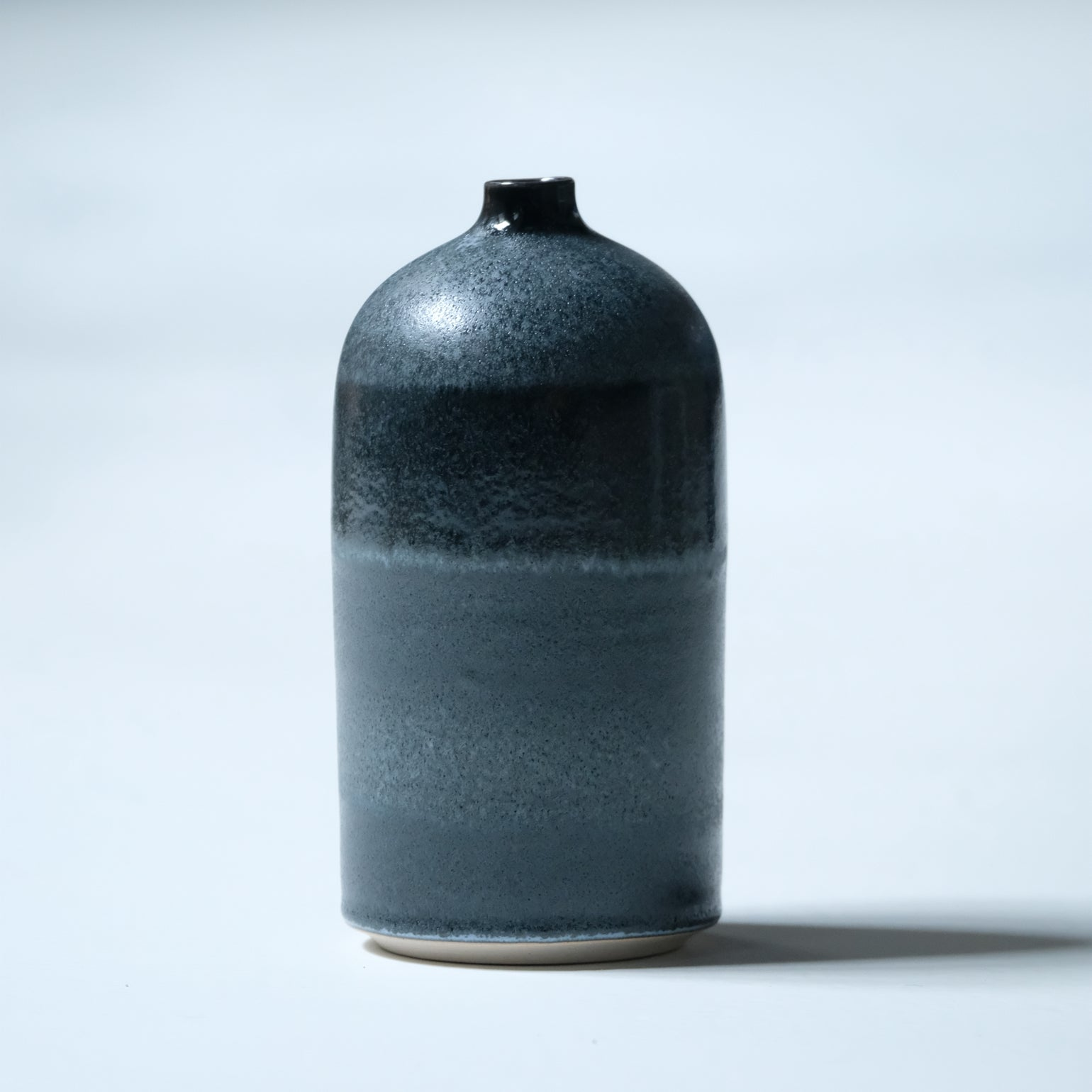 Image of UNIKA BOTTLE IN FROSTED BLACK GLAZE