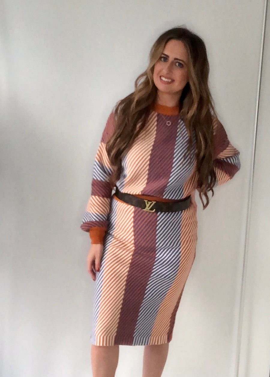 Image of Autumn Striped Knitwear Co-ord