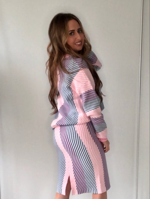 Image of Pastels Striped Knitwear Co-Ord