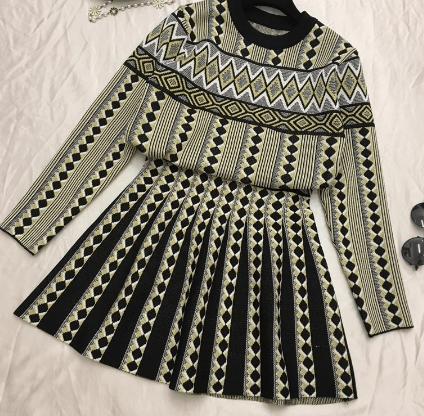 Image of Geometric Knitwear set