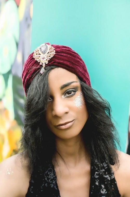 Image of Velvet Jewel Turban