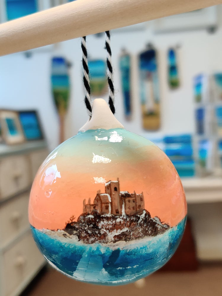 Image of Limited Edition Winter on St Michael's Mount Bauble