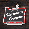 Red Old Mill Town Sticker