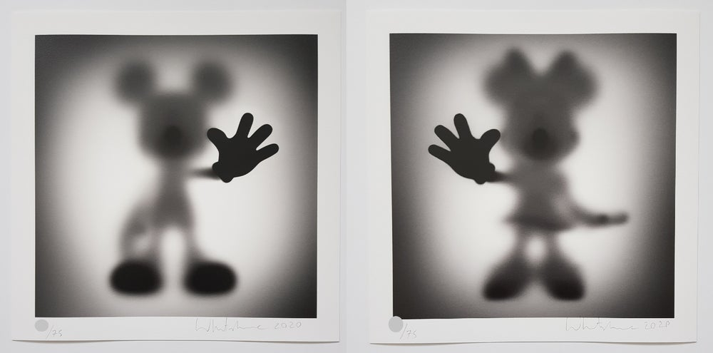 Image of WHATSHISNAME - GONE MICKEY & MINNIE - LTD ED 75 - 35CM X 35CM