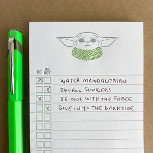 """Do or Do Not"" Baby Yoda Mandalorian Notepad"