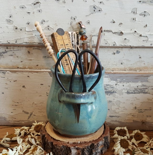 Image of Small Crafter's Catch-all and snips: Glacial Waters (Turquoise)