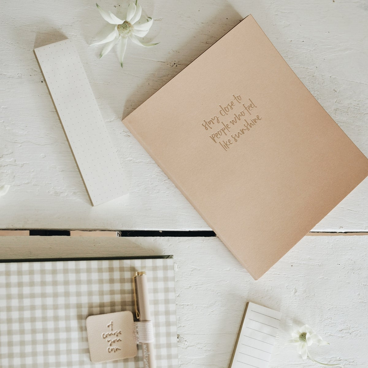 Image of emma kate co. notebook - stay close to people who feel like sunshine