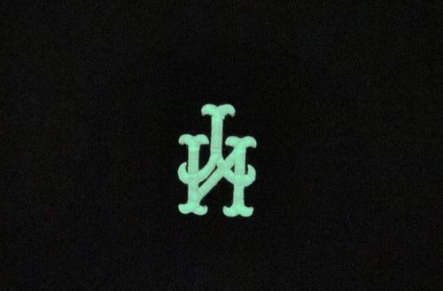 Image of Glow In the Dark 3 Peat NY Upside Down SnapBack