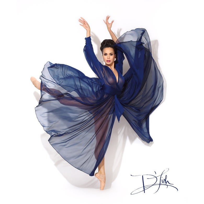 "Image of ""Blue Depths"" 100% Silk Beverly Dressing Gown (10% off Discount Code: BlueDepths)"