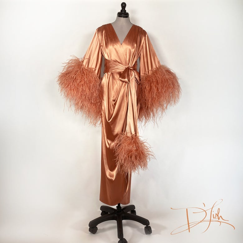 "Image of ""Apricot Brandy"" Selene Dressing Gown (10% Off Discount Code: SELENE10)"