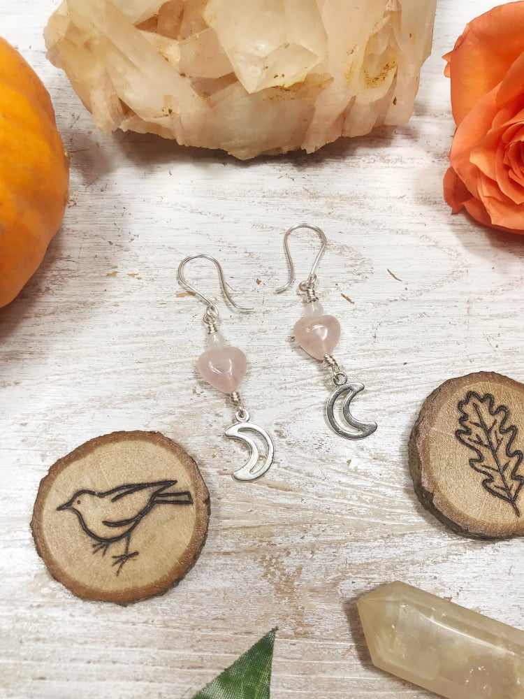 Image of Heart of the Rose earrings