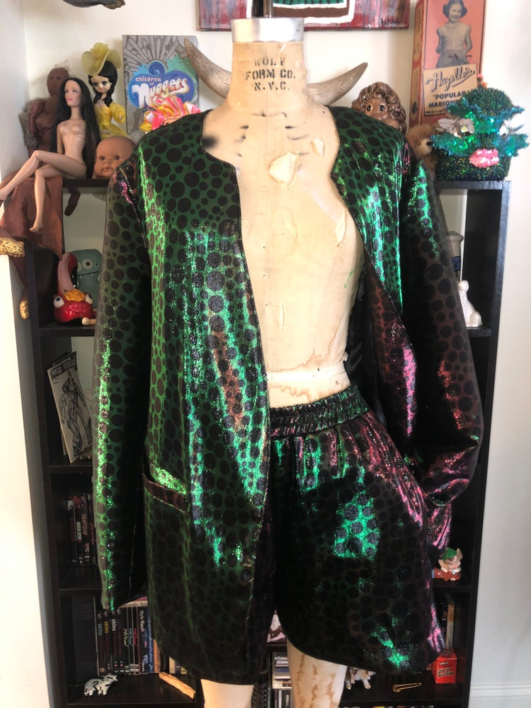 Image of Iridescent shorts suit
