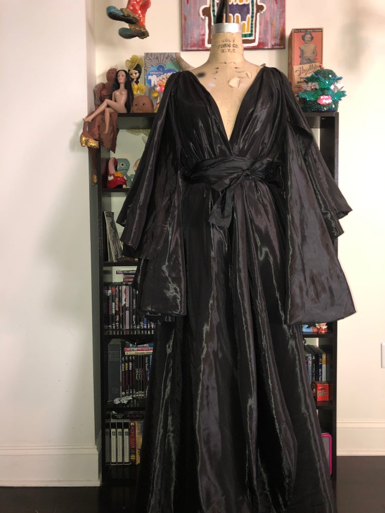 Image of Black lounge robe