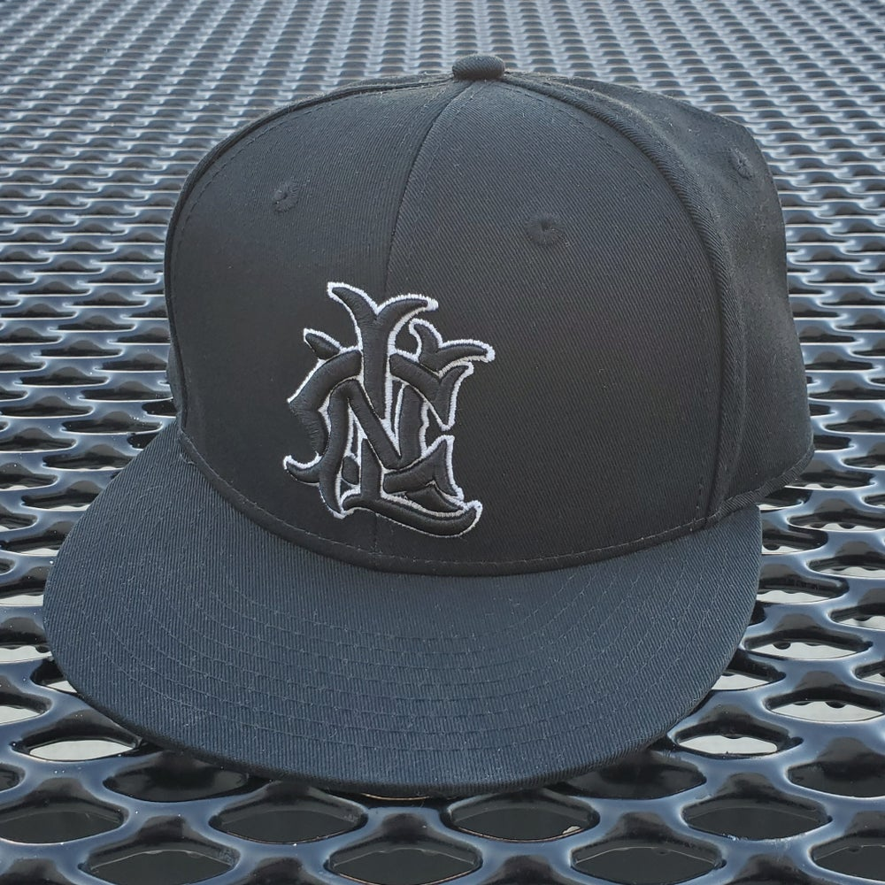 Image of Monogram Logo Snapback (Black/White)