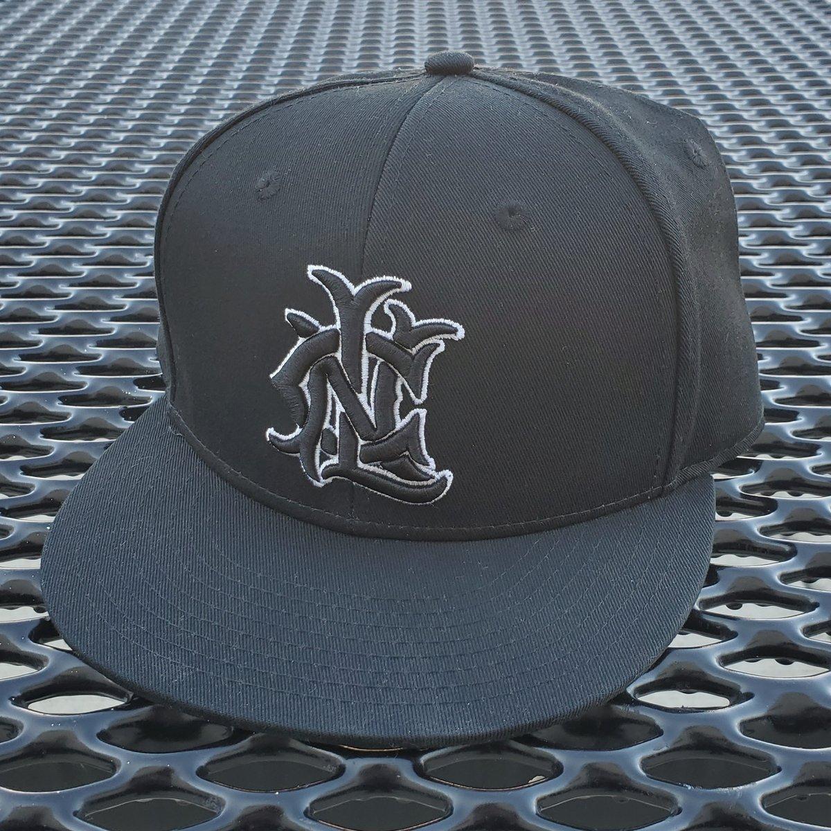 Image of Monogram Logo Snapback (Black/White)