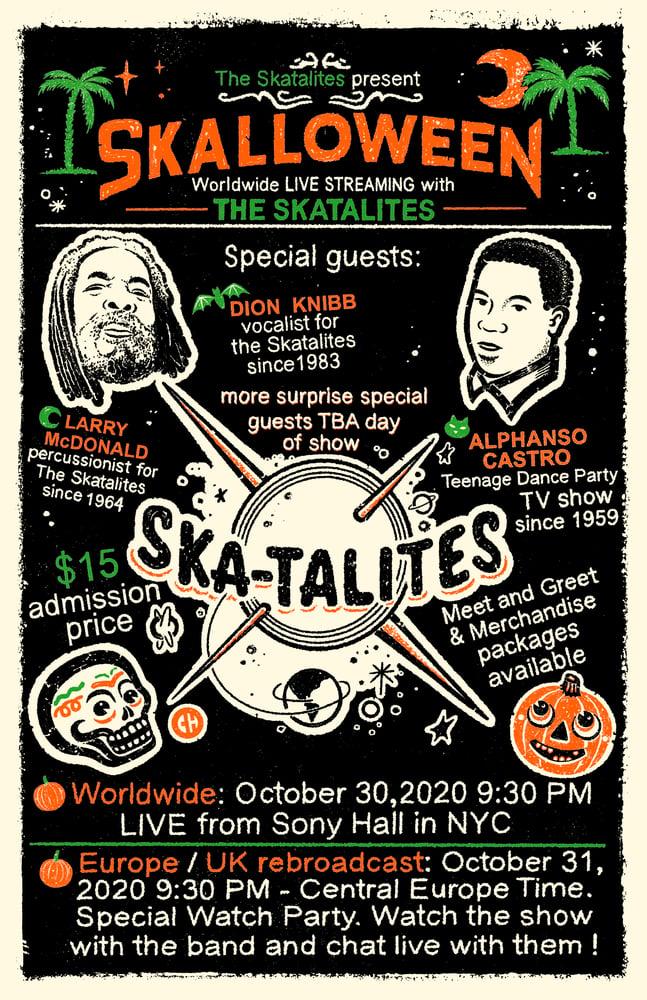 Image of SKALLOWEEN - Skatalites serigraph
