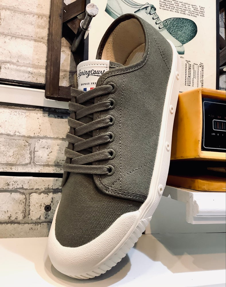 Image of Spring court G2 olive canvas shoes