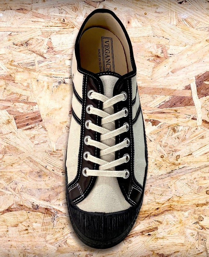 Image of VEGANCRAFT vintage lo top sneaker shoes made in Slovakia