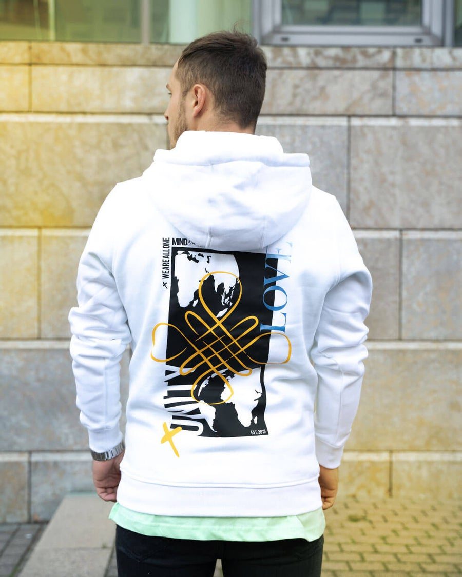 Image of ALL ONE Unisex Hoodie | White