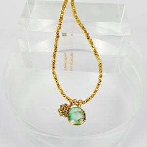 Image of Sterling silver gold plate necklace